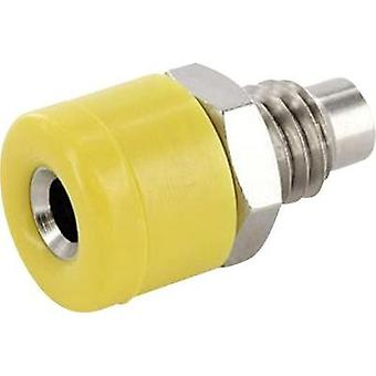 Jack socket Socket, vertical vertical Pin diameter: 2.6 mm Yellow econ connect HOBGE 1 pc(s)