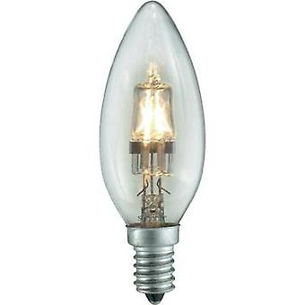 Eco halogen 97 mm Sygonix 230 V E14 18 W Warm white EEC: C Candle shape dimmable 1 pc(s)