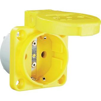 Add-on socket IP54 Yellow PCE 601.
