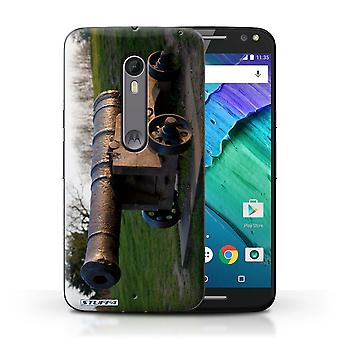 STUFF4 Case/Cover for Motorola Moto X Style/Old Cannon/British Coast