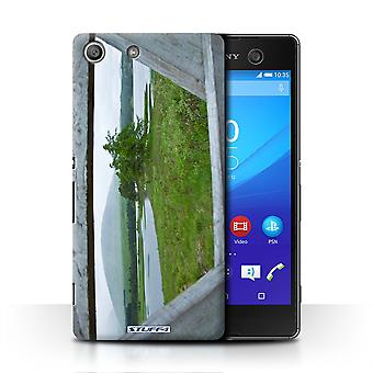 STUFF4 Case/Cover for Sony Xperia M5/Fence/Lake/Scottish Landscape