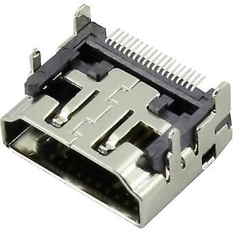 HDMI connector Socket, horizontal mount Connfly 1 pc(s)