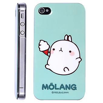 Kanin hette med iskrem Molang i hard plast, for iPhone 4/4s