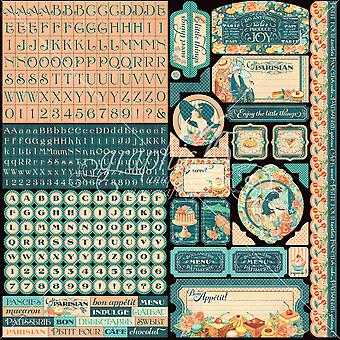 Cafe Parisian Cardstock Stickers 12