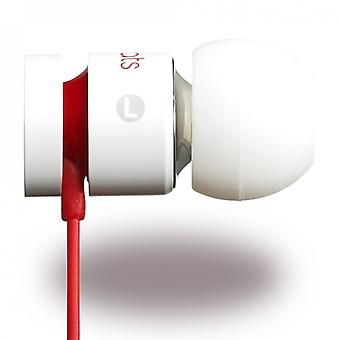 Beats by Dr. Dre, InEar headset microphone, UrBeats 2 white iPhone iPod iPad, dust protection plug