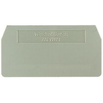 Weidmüller 1608750000 ZAP/TW 1 BL End Plates And Dividers Compatible with: ZDU 2.5