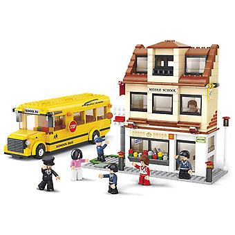 Sluban Town With School Bus 487 Parts (Toys , Constructions , Vehicles)