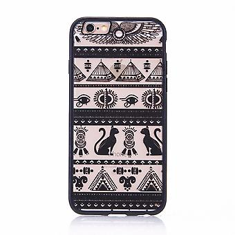 Mobile case mandala for Apple iPhone 7 design case cover motif Egyptian characters cover bumper black