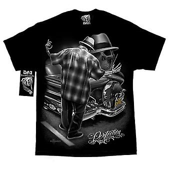 DGA Tees David Gonzales kunst tatovering Herre Tshirt Tee Top sort perfektion tatovering