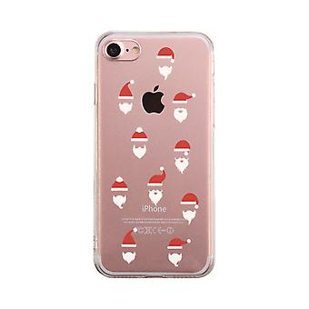 Santa Muster Transparent Telefon Fall niedlich klar Phonecase