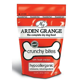 Arden Grange Mini sprødt bid med frisk kylling 250g (pakke med 10)
