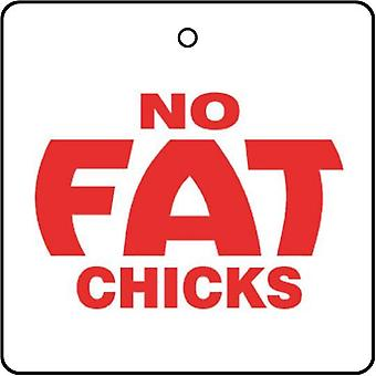 No Fat Chicks Car Air Freshener