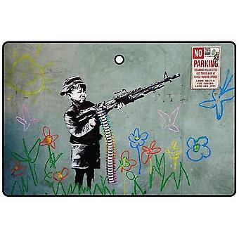 Banksy niño con pistola ambientador de aire