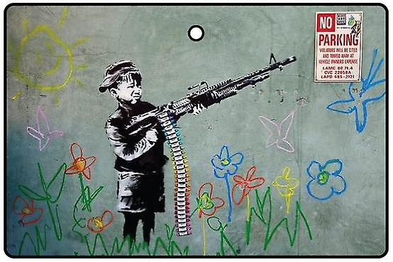 Banksy Kid With Gun Désodorisant