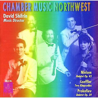 Nielsen/Loeffler/Prokofjev - Nielsen: Kvintet Op. 43; Leoffler: To Rhapsodies; Prokofiev: Kvintet Op. 39 [CD] USA importerer