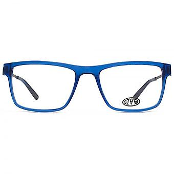 Animal Dale Large Rectangle Acetate Glasses In Crystal Blue