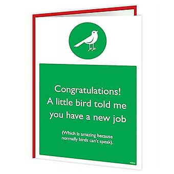 Brainbox Candy New Job Bird Card