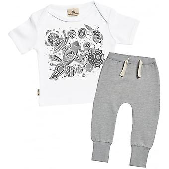 Spoilt Rotten Spaceship Print T-Shirt & Joggers Outfit Set