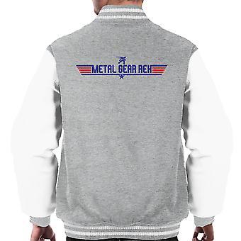 Top Gun Logo Metal Gear Solid Rex Men's Varsity Jacket