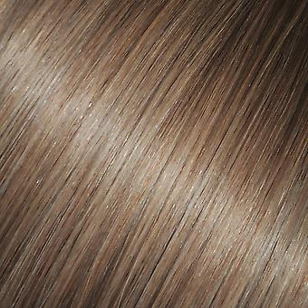 #8 - Light Brown, Brunette, Luxury, FULL HEAD, Real Clip-in Hair Extensions - 100% Remy, Triple Weft, Thick Human Hair