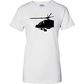 Apache Helicopter Cockpit - Awesome Military Chopper - Ladies T Shirt