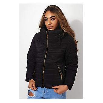 The Fashion Bible Black Padded Puffa Jacket