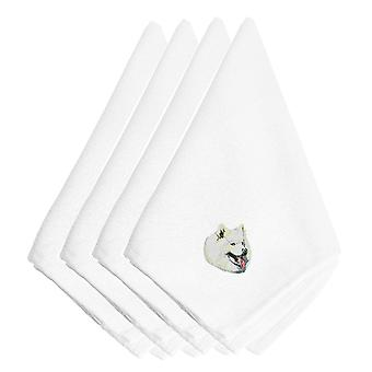 Carolines Treasures  EMBT2372NPKE Samoyed Embroidered Napkins Set of 4