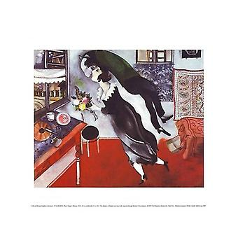 Birthday Poster Print by Marc Chagall (14 x 11)