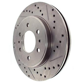 StopTech 227.65130L Select Sport Drilled and Slotted Brake Rotor; Front Left