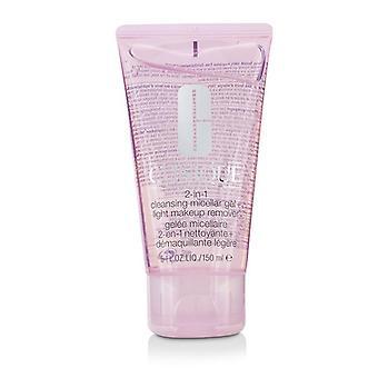 Clinique 2-i-1 rensing Micellar Gel + lys Makeup Remover - 150ml / 5oz