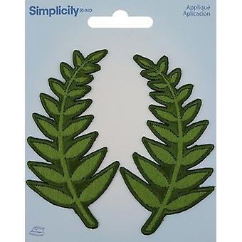 Wrights Iron-On Appliques 2/Pkg-Fern 193 5049