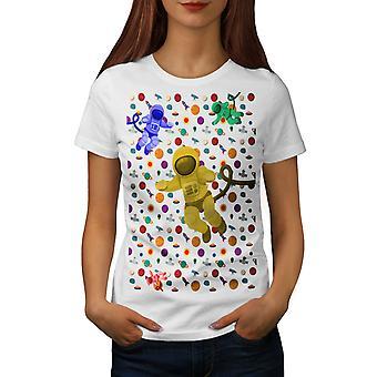Personer kosmos Cool kvinnor WhiteT-skjorta | Wellcoda