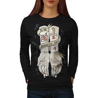 Regrette rien mode pour femmes noirLong Sleeve T-shirt | Wellcoda
