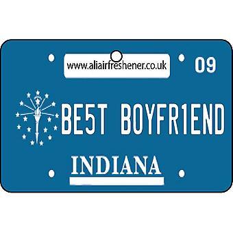 Indiana - Best Boyfriend License Plate Car Air Freshener