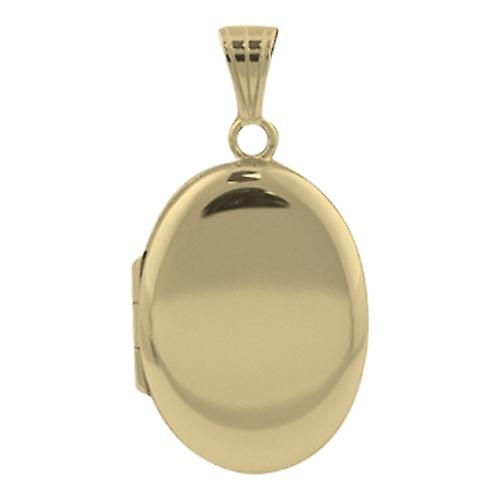 9ct Gold 27x20mm plain oval Locket