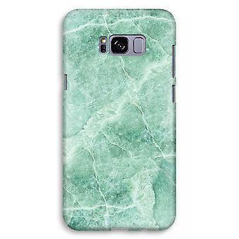 Samsung Galaxy S8 Plus Full Print Case (Glossy) - Green marble