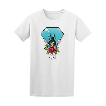 Jewelry Bug With Rose Tattoo Tee Men's -Image by Shutterstock