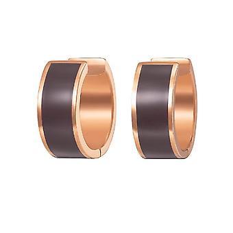 Joop kvinnors hoop örhängen rostfritt stål av Rosé guld orörda JPER10003C000