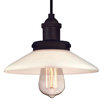 Pendant Abigail Oil Rubbed Bronze and Frosted Glass with 1 Light