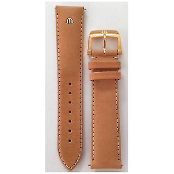 Maurice Lacroix | 20mm Camel Leather Strap Rose Gold | No Buckle ML740-005014 Watch