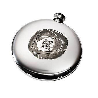 Charles Rennie Mackintosh Sporran Pewter Flask - 4oz
