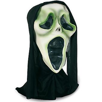 Ghost mask LaTeX half mask scwarze hood horror Halloween