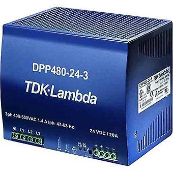Rail mounted PSU (DIN) TDK-Lambda DPP-480-48-1 48 Vdc 10 A 480 W 1