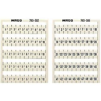 WAGO 793-4504 WMB-name Cards Compatible with (details): WAGO passage clamp series 2001
