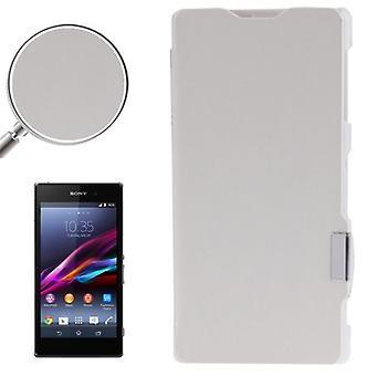 Handyhülle Tasche für Sony Xperia Z1 / L39h weiß gebürstet