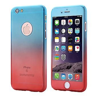 Huawei P9 mobile case protection case 360 full-cover tank protection glass blue / red