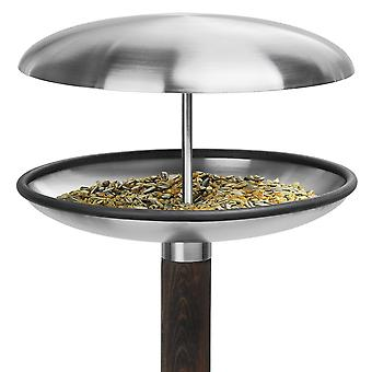 Blomus bird resting place FUERA satin stainless steel with wood-fired spit