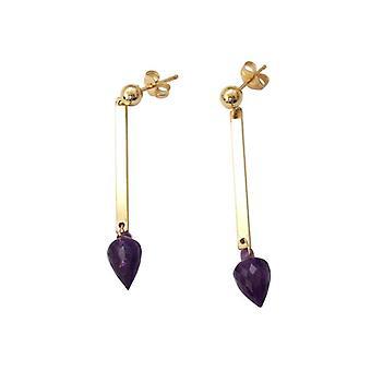 Amethyst earrings drop earrings earrings KATRINA gold plated