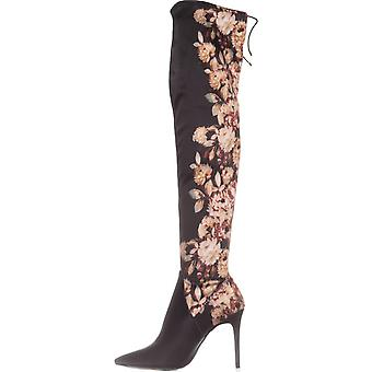 Jessica Simpson Womens Lessy Fabric Pointed Toe Over Knee Fashion Boots