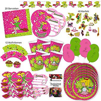 Bibi Blocksberg party set XL 118-teilig 6 hex hex Bibiparty kids birthday party package